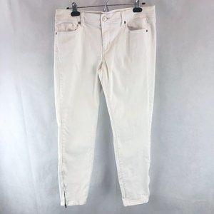 LOFT White Denim Modern Skinny Ankle 29 / 8
